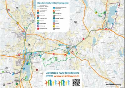 Alavuden ulkoilureitit ja liikuntapaikat. Kartta asukkaalle ja matkailijalle.